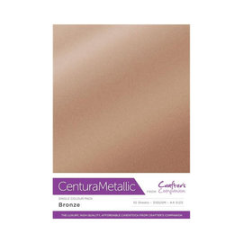 Crafters Companion Centura Metallic, 10 Sheets of Bronze 300gsm