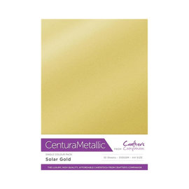 Crafters Companion Centura Metallic, 10 Sheets of Solar Gold 300gsm