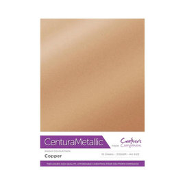Crafters Companion Centura Metallic, 10 Sheets of Copper 300gsm