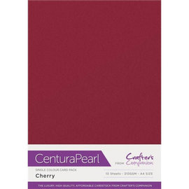 Crafters Companion Centura Pearl, 10 Sheets ofCherry 310gsm