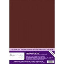 Crafters Companion Centura Pearl, 10 Sheets of Dark Chocolate 300gsm