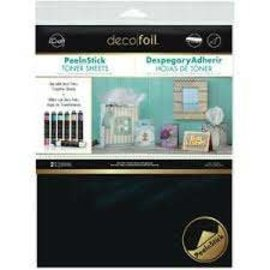 Deco Foil, Toner Sheets A4, PeelnStick adhesive heatactivated transfer papers