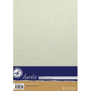 Aurelie Aurelie Vintage Metallic Cardstock White 10 vellen