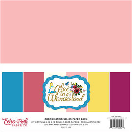 Echo Park Alice in Wonderland bijpassende cardstock 6 colors
