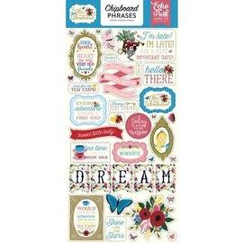 Echo Park Alice in Wonderland Chipboard Phrases