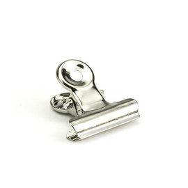 Kippers Bulldog Clip, Zilver 19mm  5 st