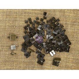 PRIMA MARKETING Metal Vintage Trinkets JBrads squarres (splitpennen) Assorted Sizes, 100/Pkg