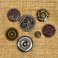 PRIMA MARKETING Finnabair Mechanicals - Vintage Trinkets - Vintage Center 7pcs