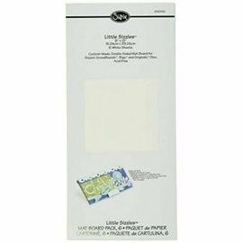 Sizzix Sizzix Mat Board White 6 Sheets 15.24x33.02cm for Bigzz dies