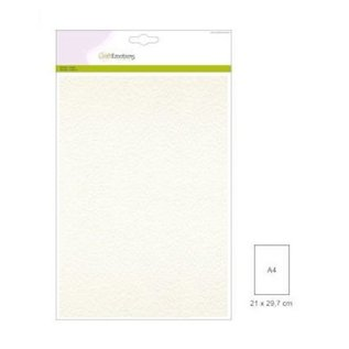 CraftEmotions Craft Emotions - cardstock 220gr - Wit - A4 - 5st