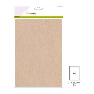 CraftEmotions Craft Emotions - cardstock 220gr - Light Kraft - A4 - 5st