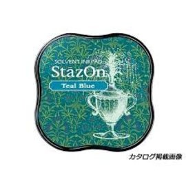 Tsukineko Stazon Ink pad MIDI Teal Blue