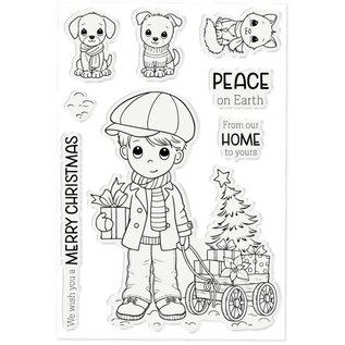 Crafters Companion Conie Fong - Clearstamp - Benny's Christmas