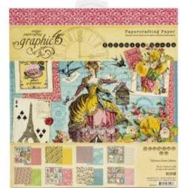 "Graphic 45   Double-Sided Ephemera Queen Paper Pad 8""X8"" 24/Pkg"