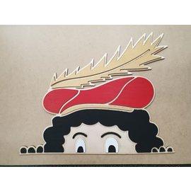 Cart 'n Scrap Art Gluurpiet - Roetpiet, zelf te beschilderen