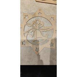 Cart 'n Scrap Art Ster  om op te hangen 30 x 30 cm