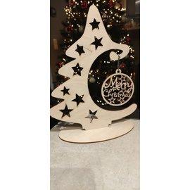 Cart 'n Scrap Art Kerstboom - hanger voor bal - 12 cm  hoog