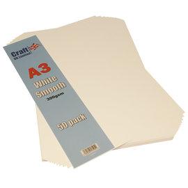 Craft UK Smooth Card A3 White