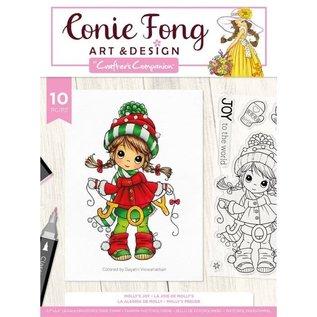 Crafters Companion Conie Fong - Clearstamp - Molly's Joy