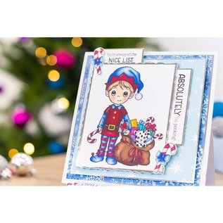 Crafters Companion Conie Fong - Clearstamp - Santa's Little Helper