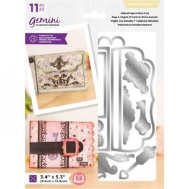 Gemini Gemini Dimensionals Dies - Tabbed Page and Purse Card
