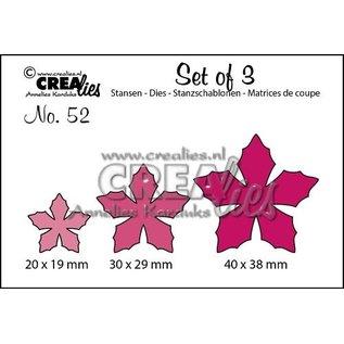 CreaLies Set of 3 stansen no. 52, Bloemen 23