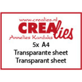 CreaLies 5 x A4 dikke transparante sheet