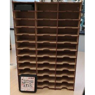 Cart 'n Scrap Art DIY  Display voor grote Distres ink pads  36 pads, mixed media projectje