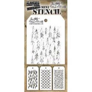 Tim Holtz Tim Holtz Mini Layered Stencil Set 3/Pkg Set #50