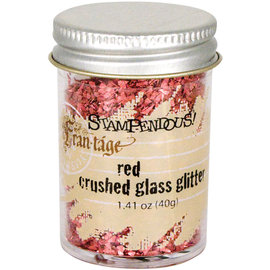 Crushed Glass Glitter Red
