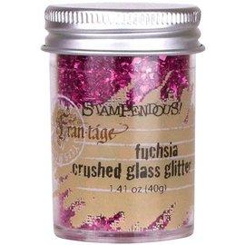 Crushed Glass Glitter Fuchsia