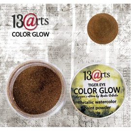 13 Arts 13Arts Metallic Watercolr Paint Powder Color Glow Tiger Eye