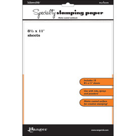 Ranger SPECIALTY STAMPING PAPER  8.5X11 - 10 sheets