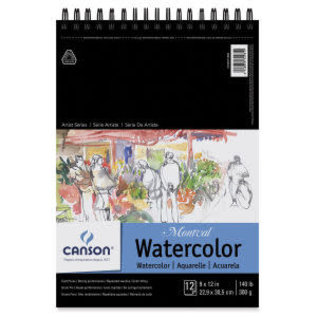 Canson Montval Watercolor Pad - 9'' x 12'', Wire Bound, 12 Sheets