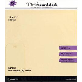 "Manila Cardstock Pack 12""x12""  10 sheets"