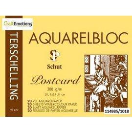 Schut Terschelling Aquarelblok Classic 10,5x14,8cm 300 gram - 20 sheets (postcard).