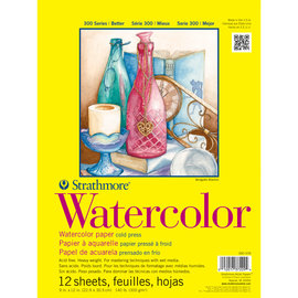 """Strathmore Watercolor texture Paper Pad 9""""X12""""-12 Sheets"""
