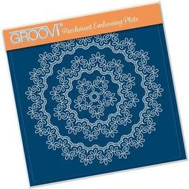 Groovi GROOVI Parchment 148mm Embossing Plate NESTED LACE FANCY SWIRLS