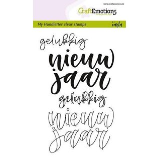 CraftEmotions CraftEmotions clearstamps A6 - handletter - nieuw jaar