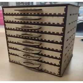 Cart 'n Scrap Art DIY Ladeblokje met 8 schuifjes voor potloden enz...20,50 x 22 x 20 cm