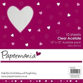 Papermania Clear acetate  10 vellen 12 X 12