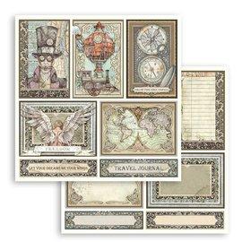 stamperia Stamperia Sir Vagabond Cards 12x12 Inch Paper Sheets  1 stuk