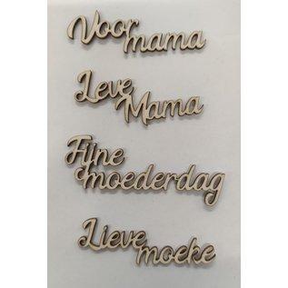 Cart 'n Scrap Art Mama - moederdag (fijn lettertype) (4st)