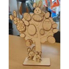 Cart 'n Scrap Art Paasboompje met konijntjes (DIY)