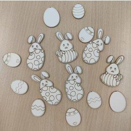 Cart 'n Scrap Art Set 2 haasjes en 6 eitjes