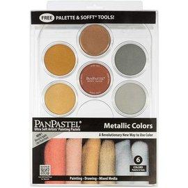 Metalic Palette set 6 kleuren en Sofft Tools van PanPastel