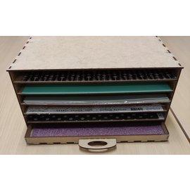 """Cart 'n Scrap Art Blanco kastje met legplanken voor papier 12""""x12"""" , past in Kallax van Ikea"""
