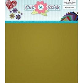 Cut 'n Stick, GOLD 20 x 23 cm , 2 vellen zelfklevende foil