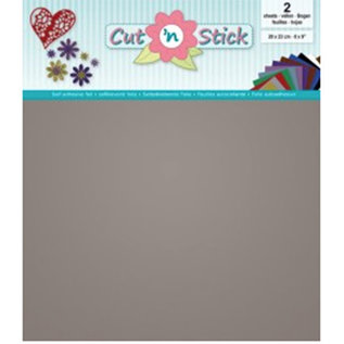Cut 'n Stick, SILVER 20 x 23 cm , 2 vellen zelfklevende foil
