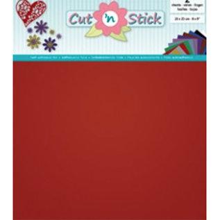 Cut 'n Stick, RED  20 x 23 cm , 2 vellen zelfklevende foil